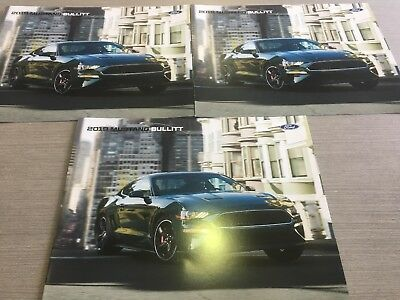 Lot of Three 2019 Ford Mustang Bullitt Auto Dealer Brochures