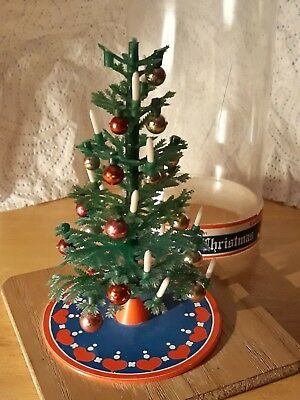GENUINE VINTAGE CHRISTMAS TREE (in original Dome) for Lundby Barton Dolls House