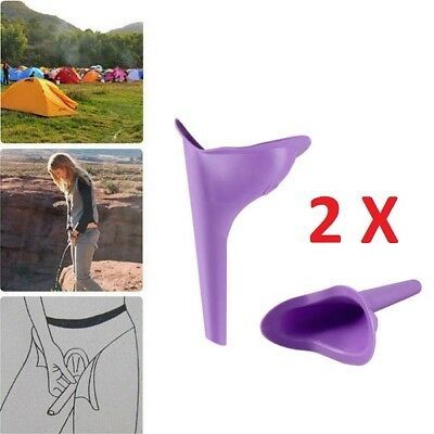 2PCS Women Portable Urinal Camping Travel Urination Device Urine Funnel Toilet