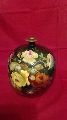 Beautiful Royal Bonn Green Ombre Hand Painted Roses - Bud Vase - Numbered