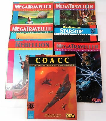 LOT of 7 MegaTraveller GDW SC 1980's All Good Examples Nice LOT