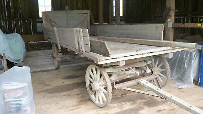 Antique Horse Drawn Farm Wagon Yard,business,produce Display,antique Shop