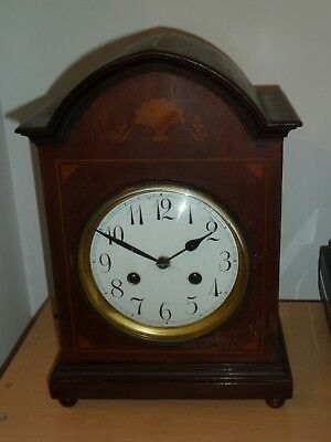 Vintage Junghans mantel clock c1920 for spares - movement is incomplete