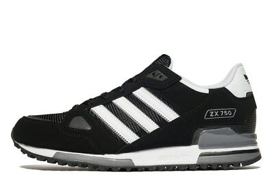adidas Originals Mens ZX 750 Trainers Black/White Limited Stock