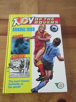 Roy of the Rovers annual 1989 hardback quiz, facts, Fleetway publications
