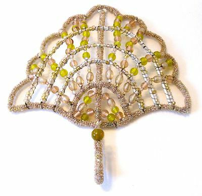 Beaded Wall Hanger  Antique Shabby Chic Cottage Style Anthropology