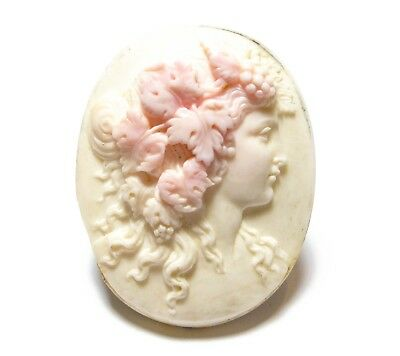 Beautiful Large Antique Victorian Carved Shell Cameo For Re-Setting Af (B6)