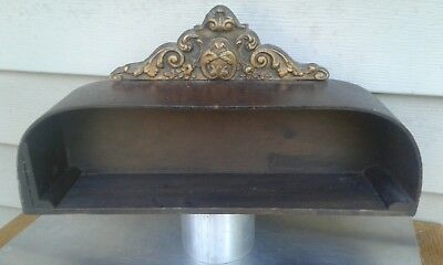 Vintage Antique Small Decorative/ornate Wooden Wall Storage Box Home Decor