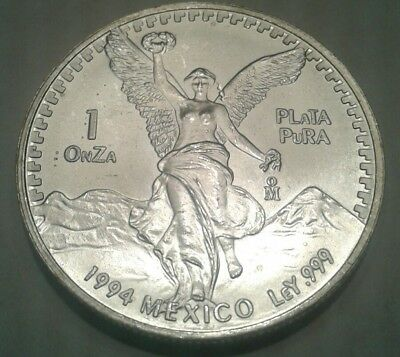 1994 - Mexican Libertad 1oz Silver Coin * key date low mintage * hard to find