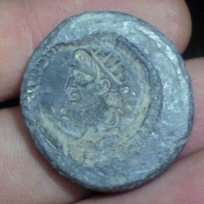 Superb Ancient Roman Lead Augustus Seal - 30 Bc - Rare