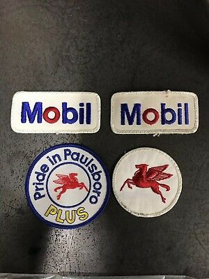 Vintage Mobil Patches Hot Rod Knucklehead Panhead Motor Engine Frame