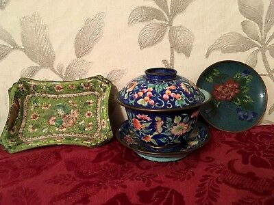 Chinese Cloisonne - 3 Pieces