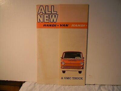 1965 Gmc All New Handi Van Truck Dealership Fold Out Brochure