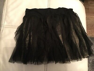 girls DKNY party skirt with netting gold and black - beautiful! medium 8-10 ish