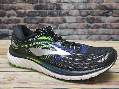 2eb1bdccc368 MEN S BROOKS GLYCERIN 15 Running Training Shoes Black Electric Blue ...