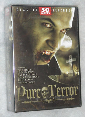 Pure Terror 50 Cult & Classic Horror Movies DVD Box Set Region Free - NEW SEALED