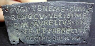 Ancient Roman Bronze Tablet With Interesting Inscription (Translation Available)