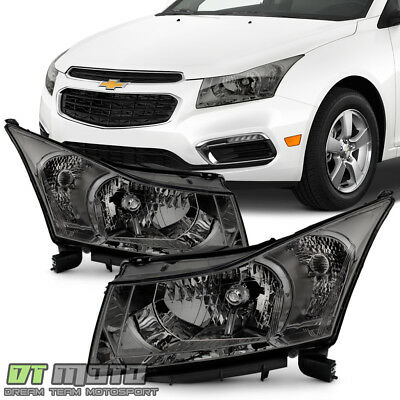 2011 2012 2013 2014 2015 Chevy Cruze Smoke Headlights Headlamps Left+Right Pair