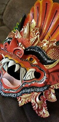 Balinese Mask Boma Barong Hindu Rakshasa Demon Bali Wall Art Hand carved wood