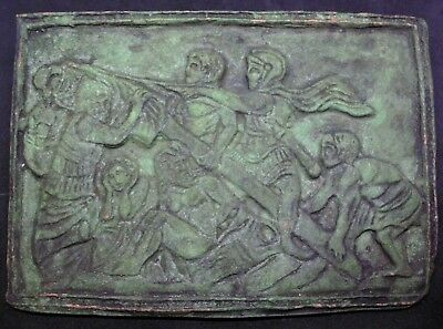Superb Ancient Roman Bronze Plaque With Stunning Relief And Details - 100/200 Ad