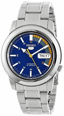 New Seiko 5 SNKK27 Automatic Self-Wind Blue Dial Stainless Steel Men's Watch