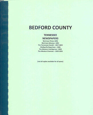 Bedford County   Tennessee Newspapers