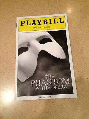 Phantom Of The Opera Majestic Theatre New York March 2015 Brand New Playbill