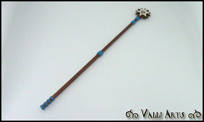 Miniature Healing Staff - Copper, Blue & White - OOAK Accessory - Doll - Diorama