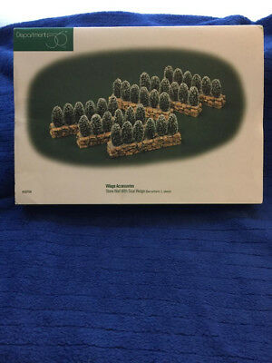 Department 56 Stone Wall with Sisal Hedge - Set of 6 #52724