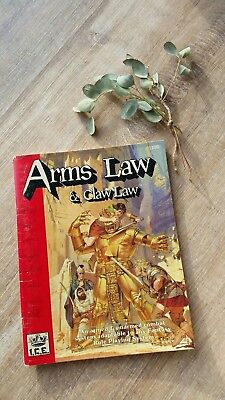 Rolemaster #1100 I.C.E. Roleplaying Rollenspiel ARMS LAW & CLAW LAW  1989