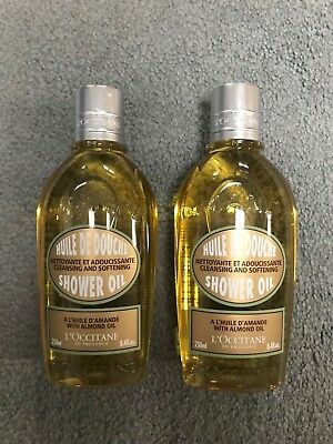 L'OCCITANE Cleansing and Softening Almond Shower Oil - 8.4 fl. oz.-Lot/Set of 2