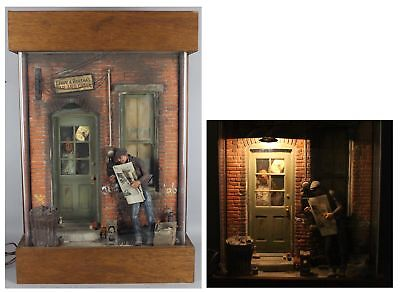MICHAEL GARMAN Light-Up Plaster Sculpture, Social Realist Colorado Bar & Grill