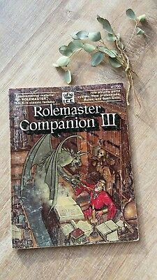 Rolemaster Companion III Ironcrown Entertainment ICE # 1700
