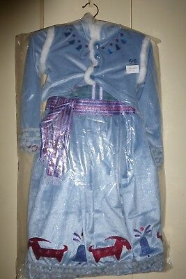 Disney Anna Olaf Frozen Adventure costume 5/6 new + OLAF toy (Christmas at Park)