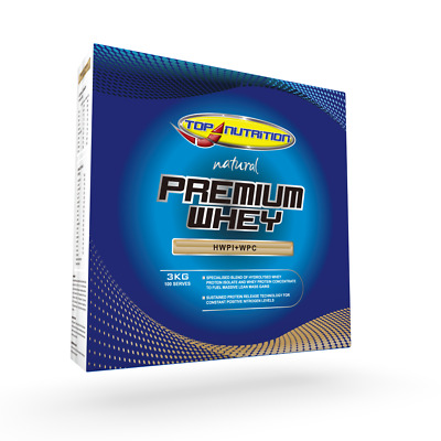 3Kg Natural Premium Whey Protein Ultra Low Fat Wpi Wpc / Top Nutrition