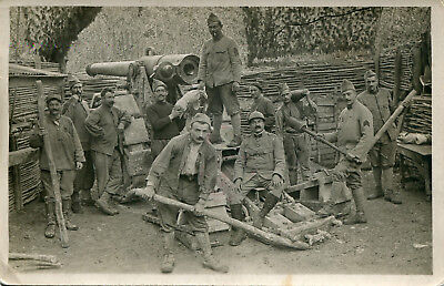 Real Photo PC: French Artillery Crew Working Their Gun ~ St. Mihiel Sept. 1918