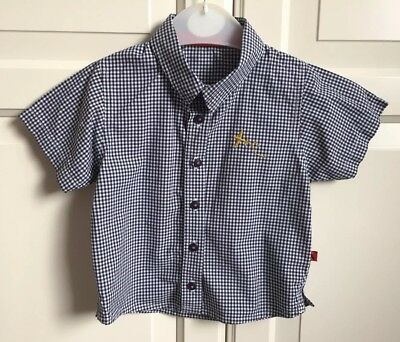 Marks And Spencer Autograph short-sleeved checked shirt 9-12 months