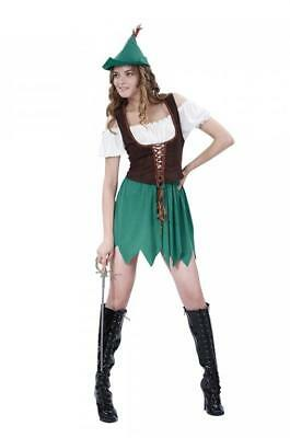 Ladies Sexy Robin Hood Fancy Dress Medieval Costume UK sizes 10-14