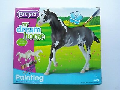 Breyer PAINT YOUR OWN HORSE kit MY DREAM HORSE- 2 unpainted HORSES nrfp #4114