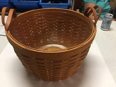 Longaberger Wildflower Basket With Protector 1995 2Handles.