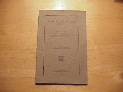 Ww1 Us Army Transportation Of Troops By Rail Lecture Booklet
