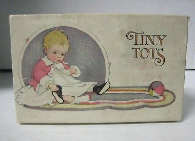 Tiny Tots Shoe Box  Hyman Bros. Rochester NY Great Graphics Baby Child