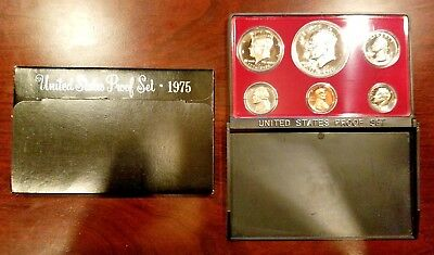 1975-S US Mint Proof Set with Original Packaging - Black Box 6 Coin Set