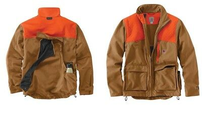 d2e7c0c963 Carhartt - Upland Field Coat - XL - Bird Hunting - Blaze Orange - Brown -
