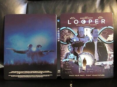 Looper Mondo Blu-Ray Steelbook [UK] Region Free Open Mint Unique Artwork RARE