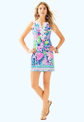 9e19cd08cf3b NWT Lilly Pulitzer Gabby Shift Dress Multi Gumbo Limbo Engineered Size 6