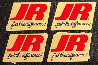 New! Lot of 4 JR feel the difference ( RC Radio Control ) Stickers / Decals NOS