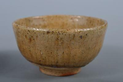 R4962: Japanese Shigaraki-ware Brown glaze TEA BOWL Green tea tool Tea Ceremony