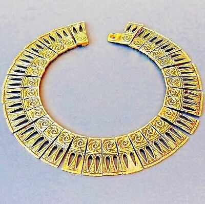 Choker Egyptian Revival FLORENZA LORRAINE MARSEL Collar Art Deco 15 3/8 inches