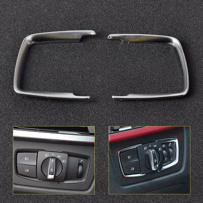 For BMW F15 X5 F30 F31 F32 F34 3 4 Series Headlight Switch Trim Chrome Cover